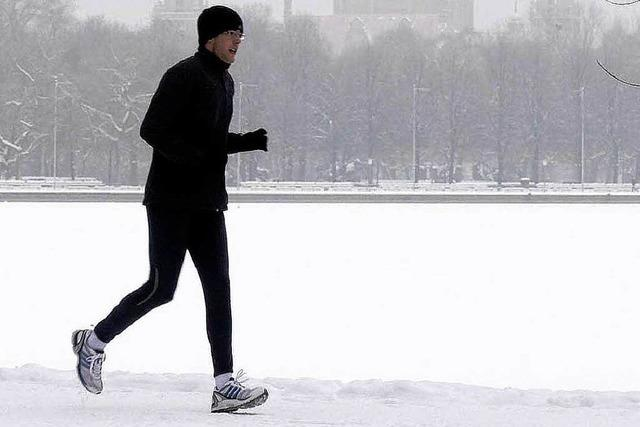Jogger müssen im Winter besonders aufpassen
