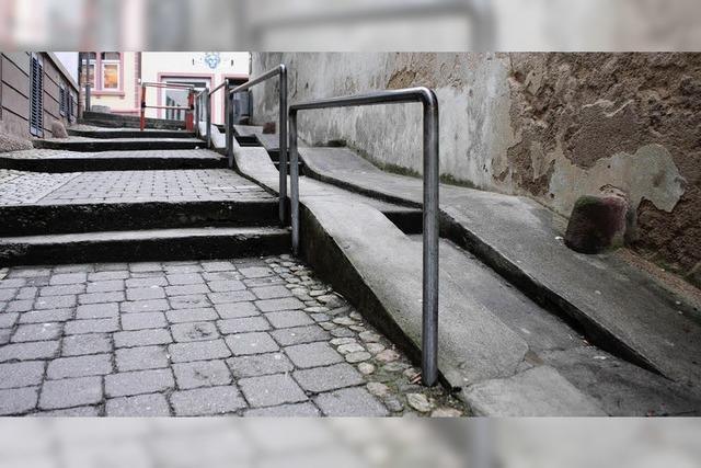 Barriere trotz Rampe