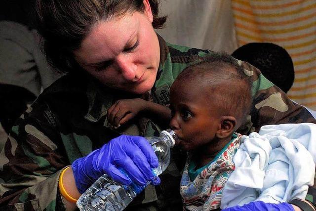 Die Hilfe in Haiti kommt an
