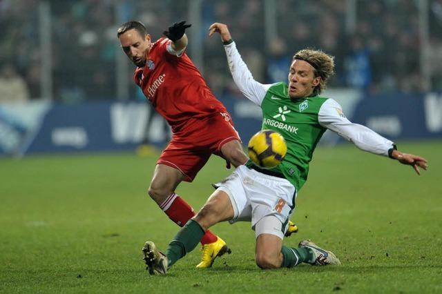 Bayern schlägt Bremen 3:2