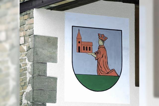 Klostergründer Offo ziert die Fassade