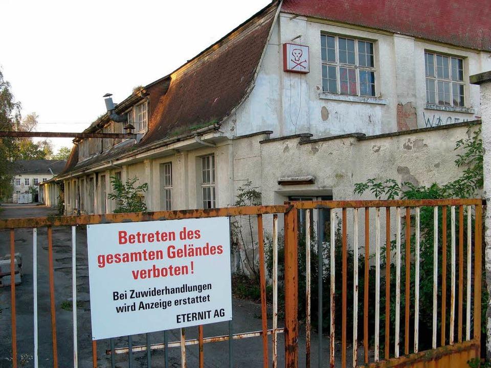 Stand jahrzehntelang leer: Das alte Eternitwerk bei Neuershausen im Herbst 2006  | Foto: Manfred Frietsch