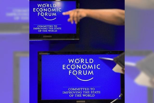 Sorgenfalten in Davos