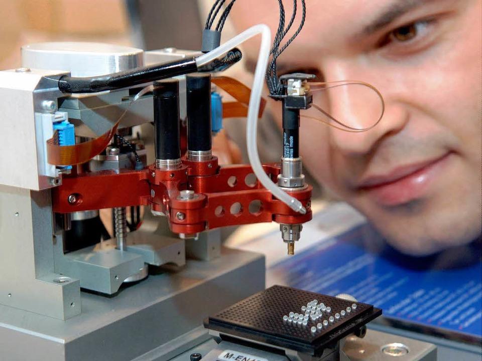 Mikrosystemtechnik.    Foto: dpa/dpaweb