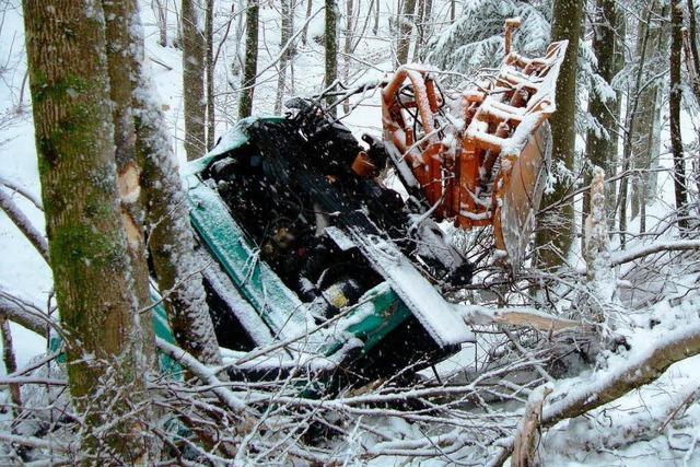 Schneepflug-Fahrer stürzt bei Oppenau in den Tod