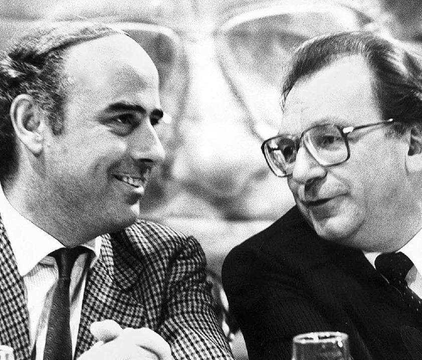 Jungstaatssekretär Fleischer,  Förderer Lothar Späth Ende der 80er Jahre   | Foto: Wurzer/Umiger