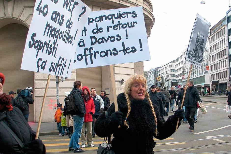 Demonstration gegen das Davoser Weltwirtschaftsforum in Basel (Foto: Bianca Fritz)