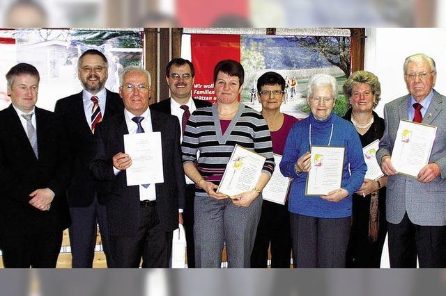 Ehrungen für langjährige Kirchenchormitglieder