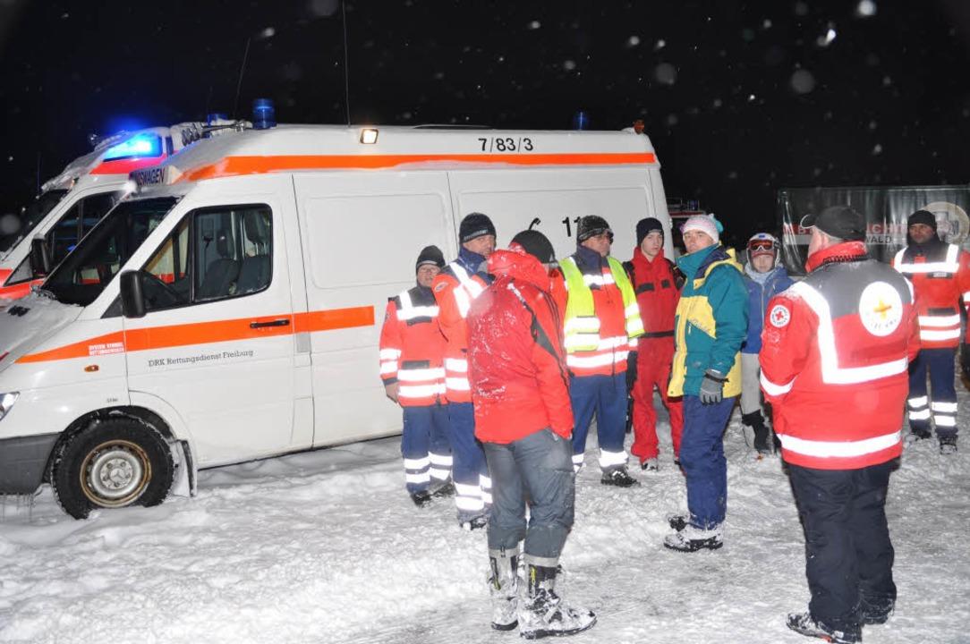 Eine Lawine am Feldberg hat zwei Winte...roßeinsatz der Rettungskräfte gesorgt.  | Foto: Martin Ganz