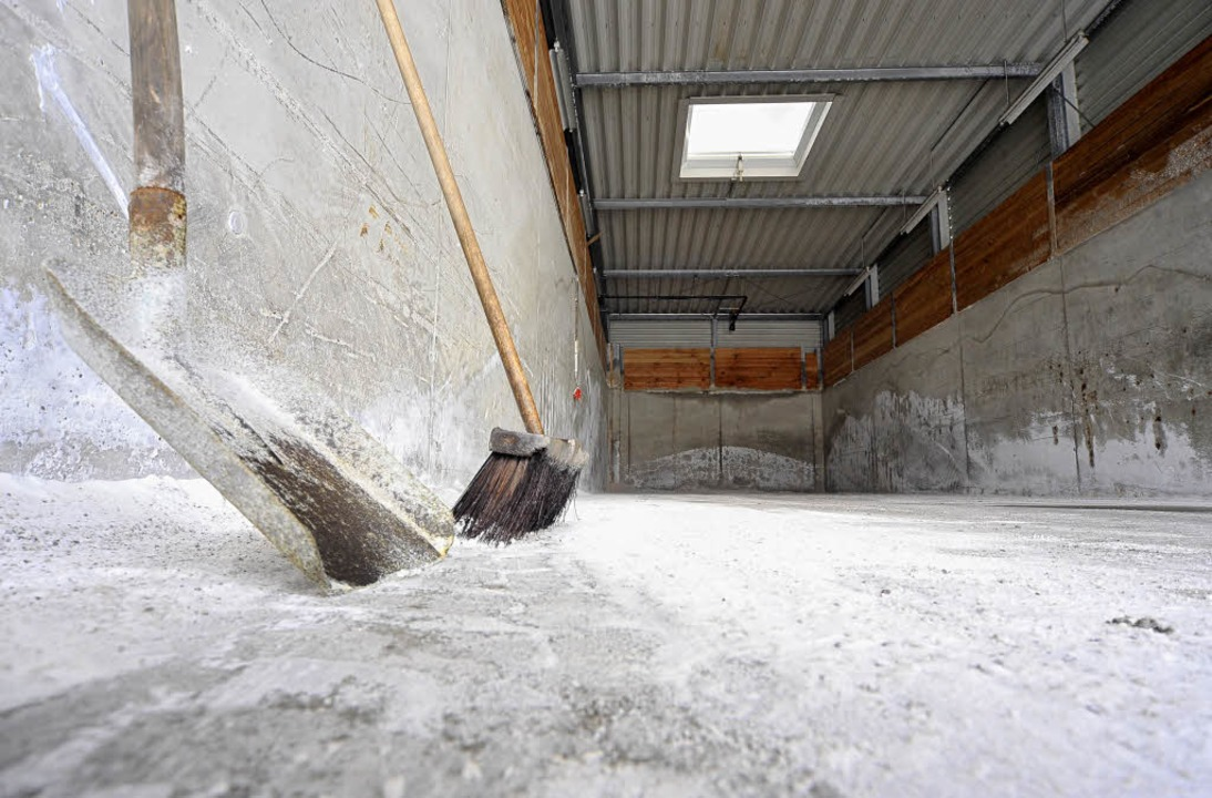 Gähnende Leere: die Streusalz-Halle auf dem Recyclinghof St. Gabriel.  | Foto: Thomas Kunz