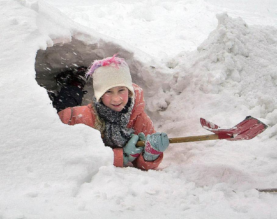Kind im Oberprechtäler Schnee  | Foto: Roland Gutjahr