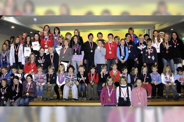 Mehr als 150 Kinder kämpften um die besten Plätze