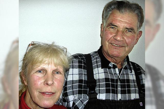 Jubilar feiert mit seiner Frau