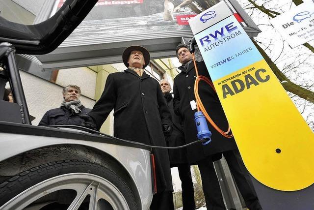 Südbadens erste Ladestation für elektrische Fahrzeuge