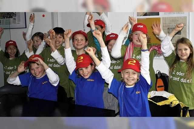 Lörracher Team in der Kinderquizshow des ZDF