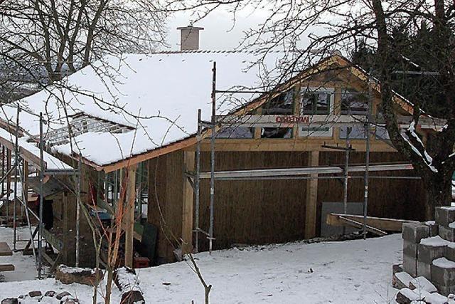 Waldkindergarten - Kinderhaus aus Holz und Ton