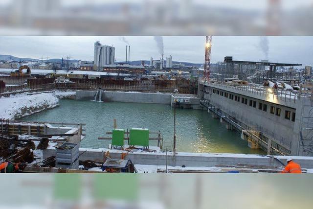 Wasser marsch fürs neue Kraftwerk