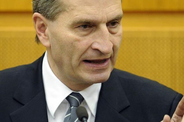 Zum Abschied viel Applaus für Günther Oettinger
