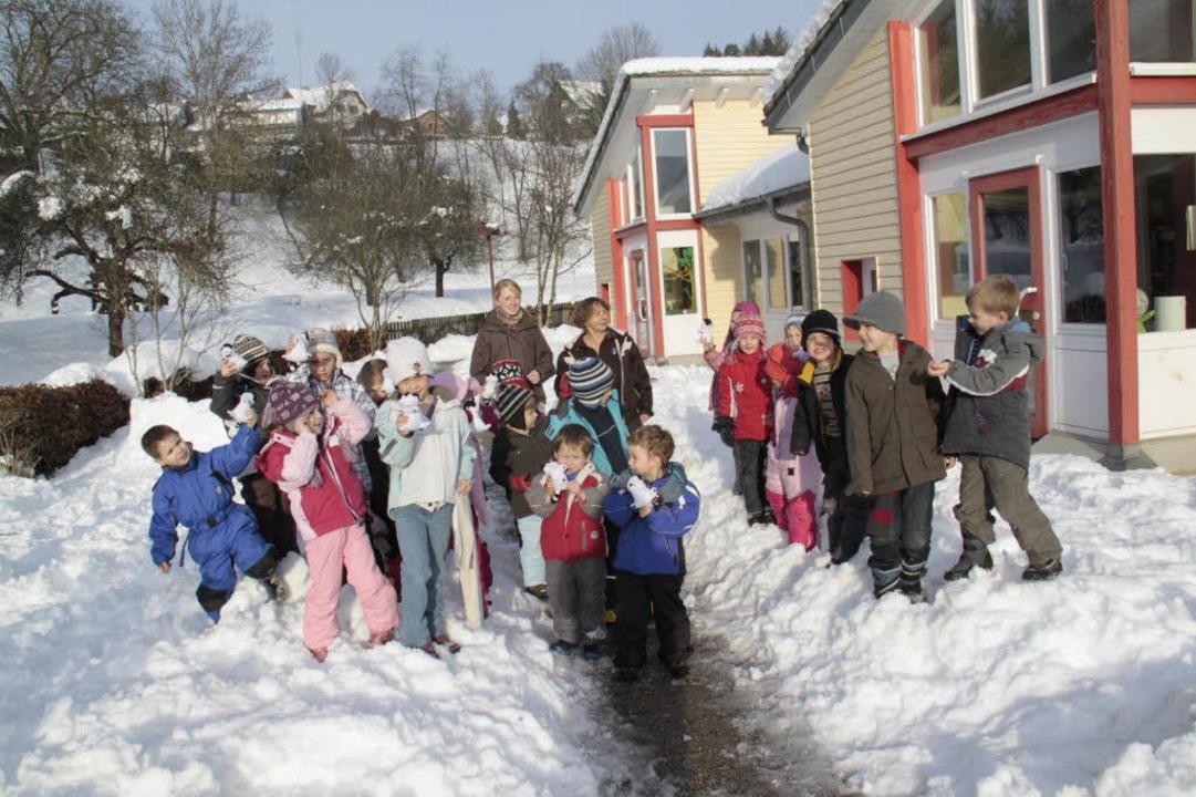 Bis zum Jahr 2012 wird  mehr Personal ... Gruppe aus dem Kindergarten Ühlingen.  | Foto: Wilfried Dieckmann