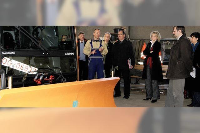 Der Umbau der neuen Werkhofhalle soll Ende März fertig sein