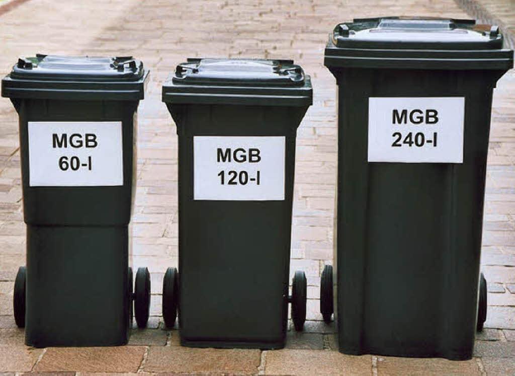 Mülltonnengröße