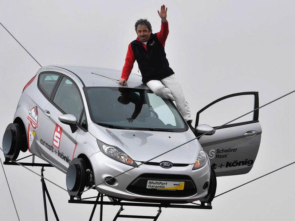 Johann Traber knackt seinen eigenen Geschwindigkeitsrekord.  | Foto: Michael Bamberger