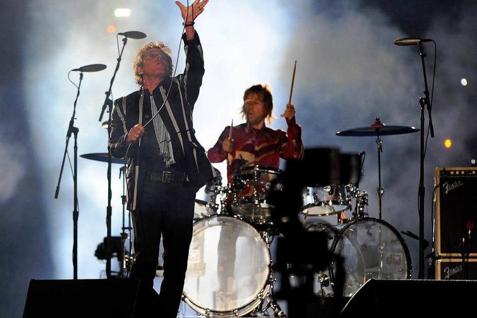 The Who – die Rock-Veteranen waren die Stargäste der Show. (Foto: dpa)