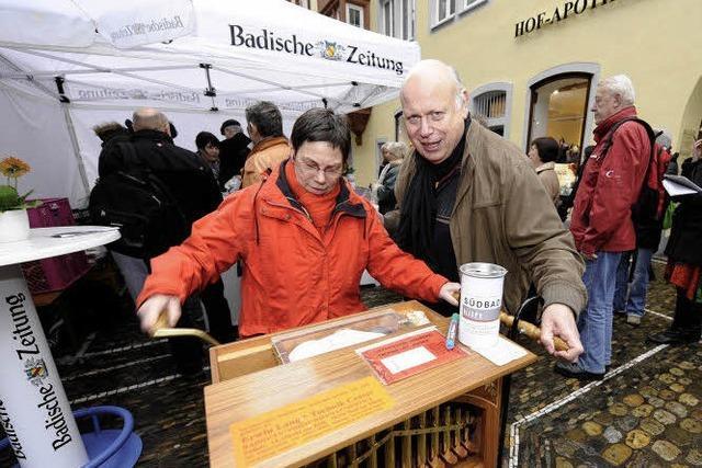 Erwin Lang unterstützt BZ-Hilfsaktion