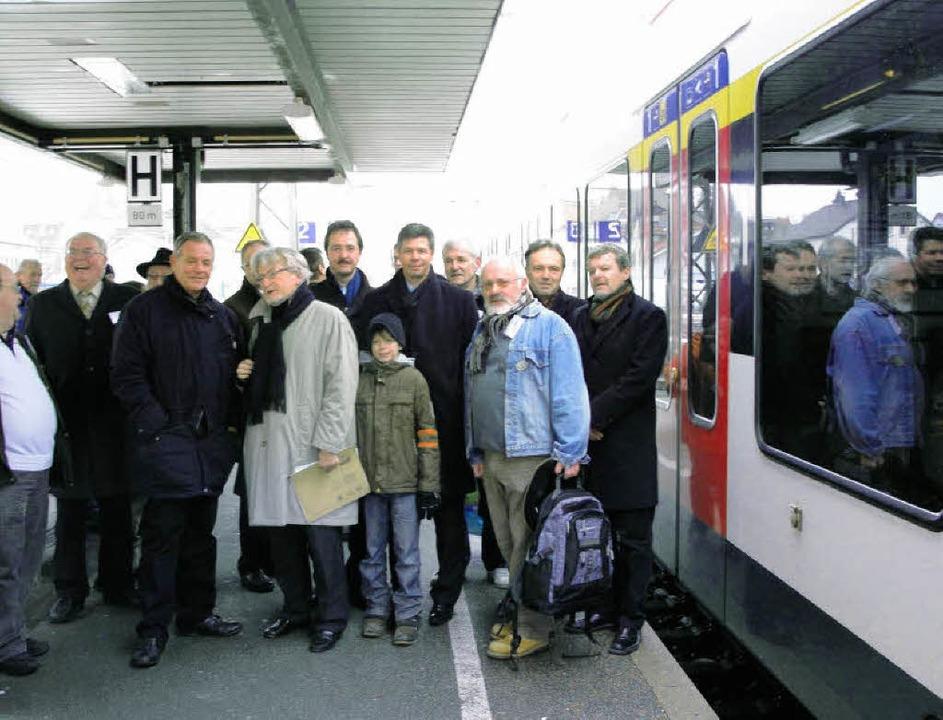 Die IG Pro Schiene lud am Sonntag zu F...tof Nitz und IG-Sprecher Karl Argast.   | Foto: Monika Weber