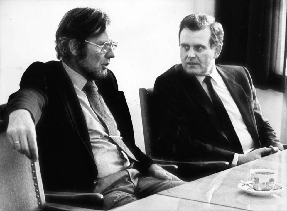 Fürst und Erwin Teufel, damals  CDU-Fraktionschef (1980)  | Foto: RETZLAFF