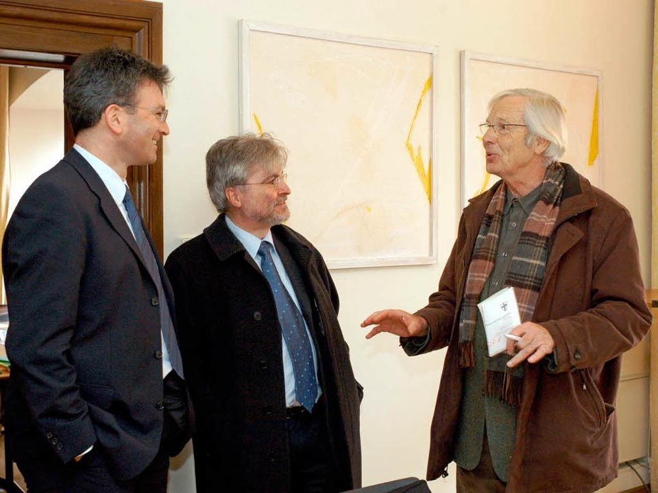 Ansgar Fürst (rechts) mit Freiburgs Ob...fredakteur Thomas Hauser im Jahr 2005.  | Foto: Ingo Schneider
