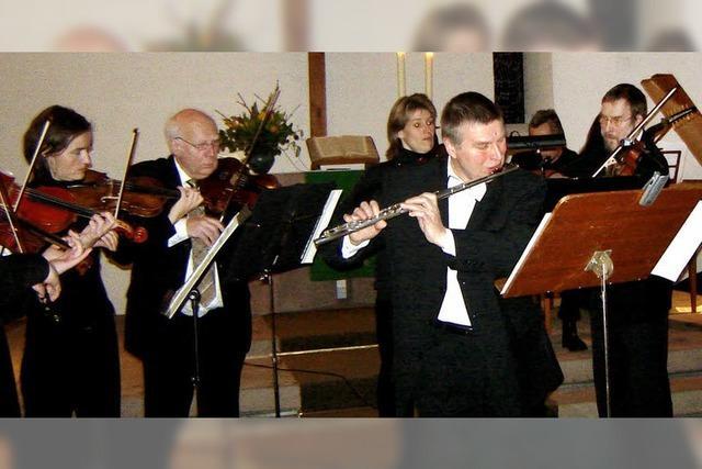 Einsatz mit Geige und Flöte fürs Gemeindezentrum