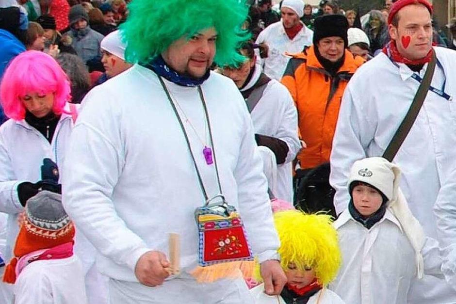 Erwachsene und Kinder hatten an der ideenreichen Kostümierung gleichermaßen Freude. (Foto: Dieter Erggelet)