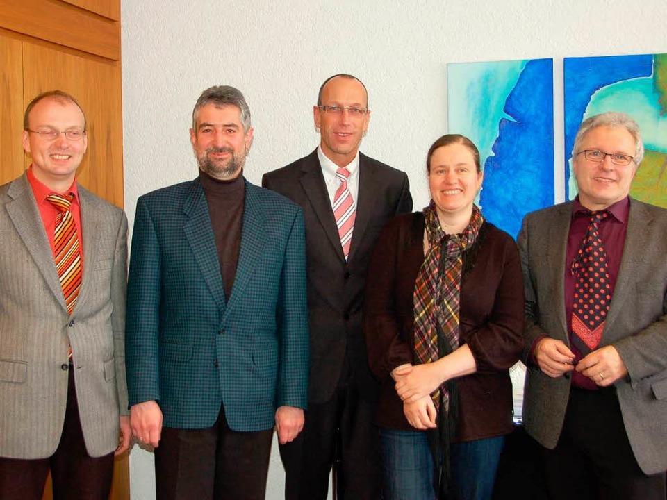 Gemeinsam:  die Bürgermeister Norbert ...ger und Regine Barth vom Öko-Institut.  | Foto: Axel Kremp