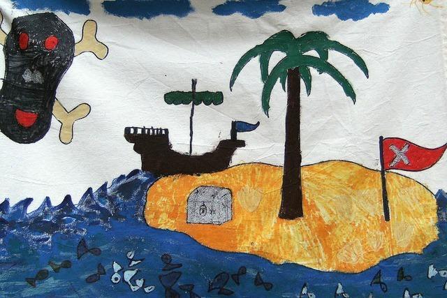 Piraten beschießen das Geisterschiff mit Papierkugeln