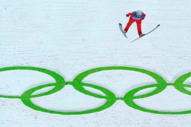 Schmitt überzeugt im Training auf der Olympia-Schanze