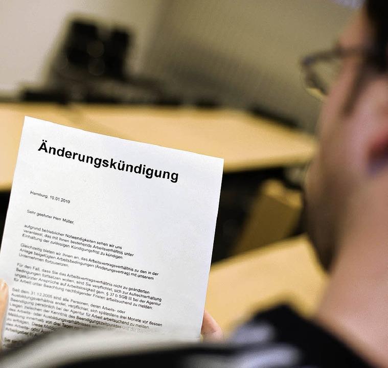 Kündigung Mit Neuem Angebot Beruf Karriere Badische Zeitung