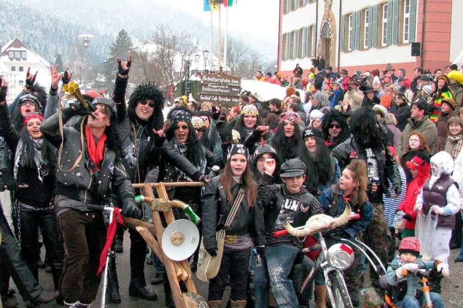 Die Narren gaben am Sonntag Vollgas in Münstertal. (Foto: Manfred Lange)