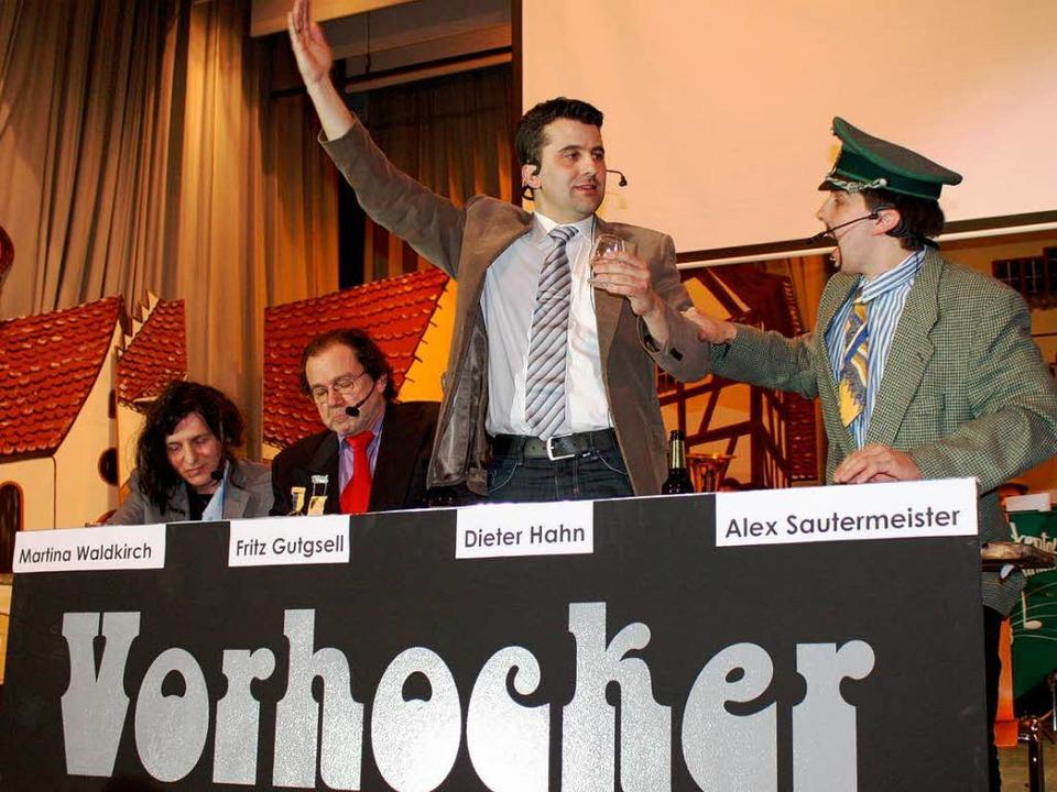 Die erste öffentliche Sitzung des Vorh...r, Lothar Hanser und Christian Kiefer.  | Foto: Barbara Schmidt
