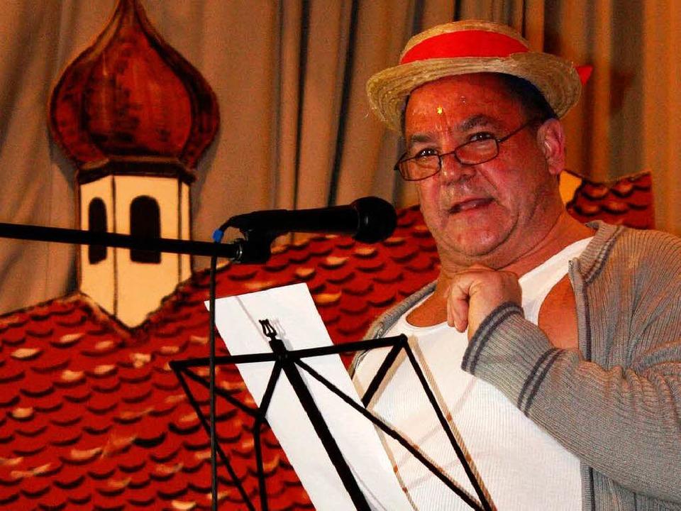 Bruno Weber, Dirigent der Schneckental-Musikanten, einmal anders.  | Foto: Barbara Schmidt