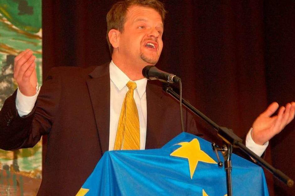 Peter Jehle als Ex-Ministerpräsident Oettinger (Foto: Ralf H. Dorweiler)
