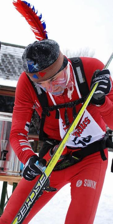 Fastnacht und Rucksacklauf: Arnold Haa...Rucksackläufer, 20. über 100 Kilometer  | Foto: Ruoff