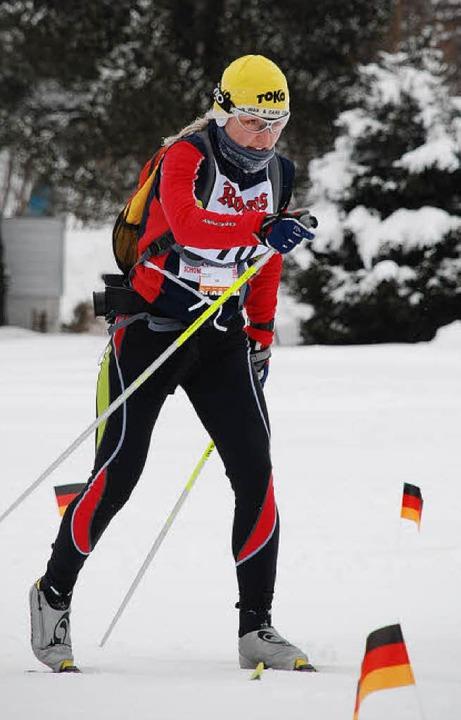 Julia Frick, Siegerin über 60 Kilometer  | Foto: Ruoff