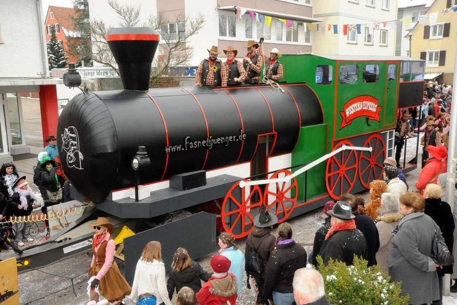 Aus Gottenheim kamen Fasnetsjünger mit Western Express (Foto: Zimmermann-Duerkop)