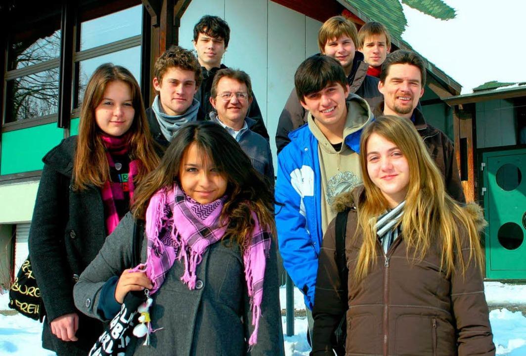 Acht brasilianische Austauschschüler e... Brasilien (Mitte) bieten ihnen Vieles  | Foto: Sabine Model