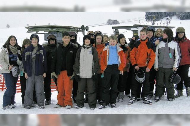 Vor den Fasnetferien viel Spaß beim Wintersporttag