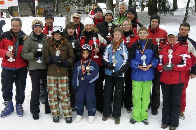 Ausgezeichnete Skifahrer