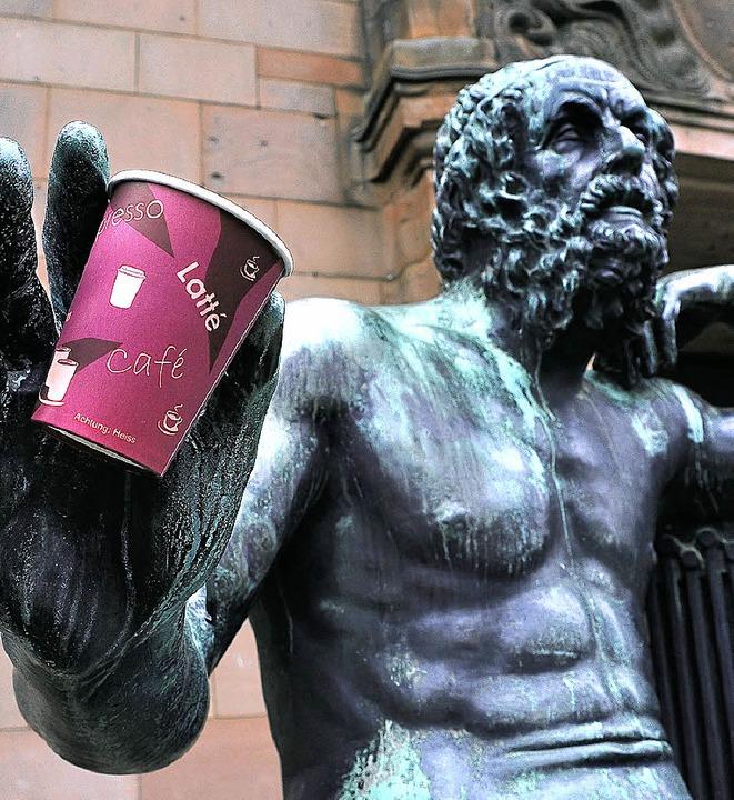 Auch universitäre Philosophen gönnen sich mal einen Kaffee.  | Foto: Thomas Kunz