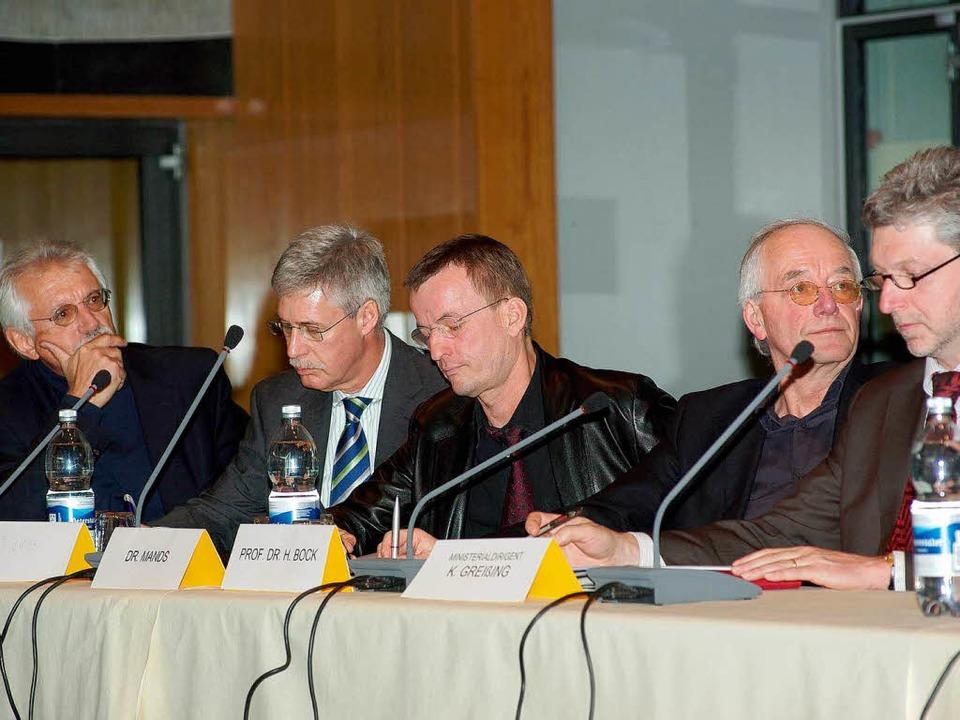 Podium mit Vertretern Bundesverband Geothermie.  | Foto: Hans Christof Wagner