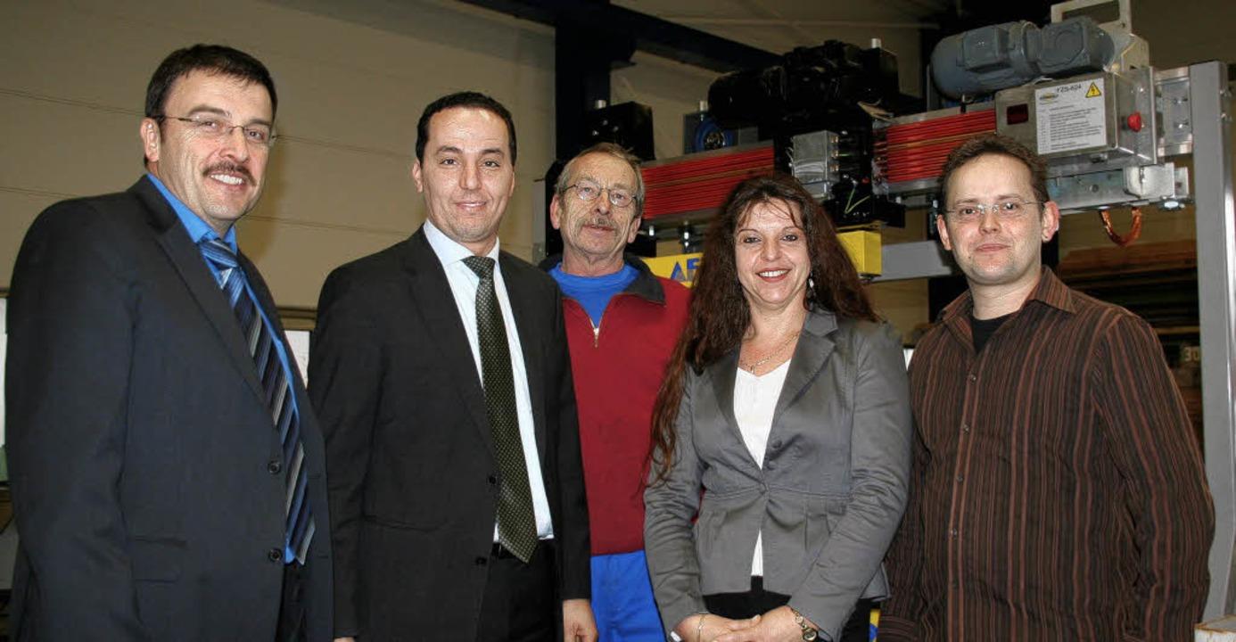Die Firma AFT steht im 25. Jahr des Be...ebsrat) und  Matthias Muckenhirn (IT).  | Foto: Marlies Jung-Knoblich